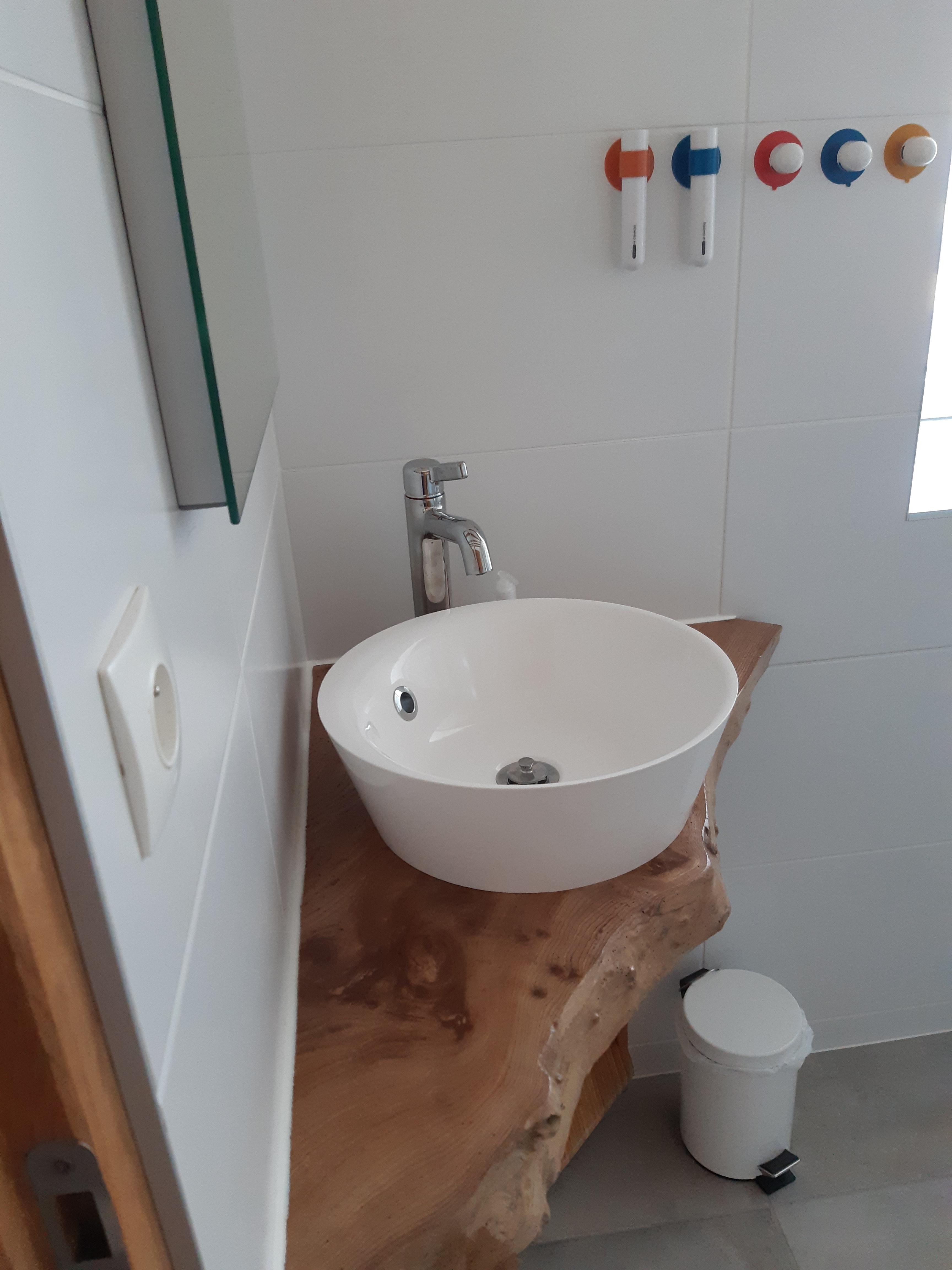 Chambre Sous les Pommiers - Le Moulin du Locheur - Salle de bains
