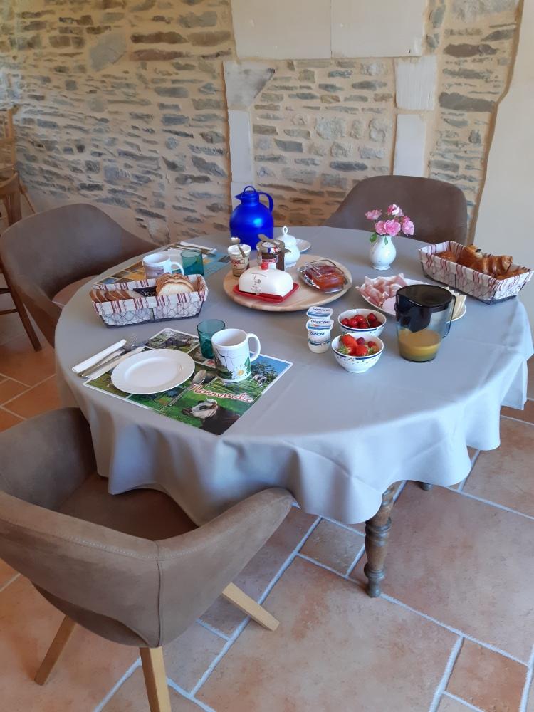 2020 Chambre d'hôte Moulin du Locheur Petit-déjeuner